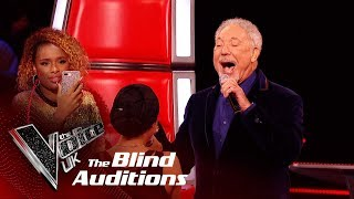 Sir Tom Jones & Bethzienna Williams' 'Cry To Me' | Blind Auditions | The Voice UK 2019