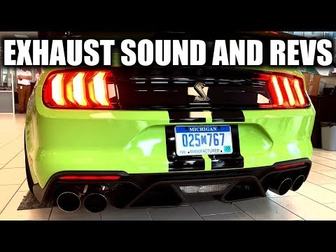 2020 Ford Mustang Shelby GT500 Exhaust Sound And Revs