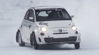 AWD Fiat 500 Abarth Proto: 4x4 Pocket Rocket Car racing on snow!