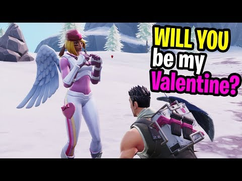 SEARCHING for my Valentines in Fortnite Random Duos and this