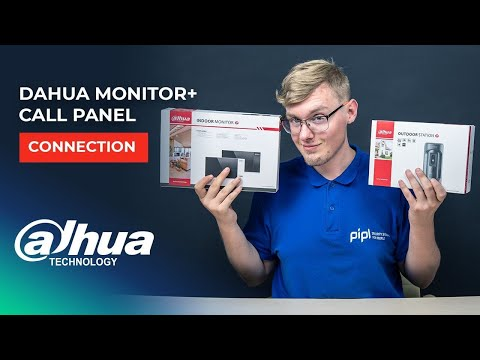 dahua-intercom-monitor-and-call-panel:-connection-and-setup