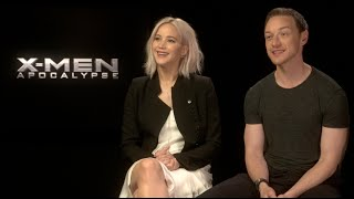 X-MEN: APOCALYPSE interviews - Jennifer Lawrence, McAvoy, Sophie Turner, Evan Peters, Munn