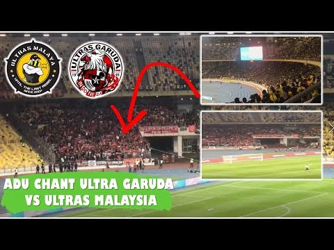 Adu Chant Ultras Malaya Vs Ultras Garuda | Qualifikasi Piala Dunia 2022 At Bukit Jalil Stadiuml
