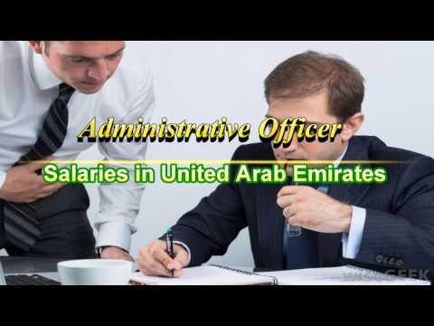 Administrative Officer Salaries in UAE/Dubai