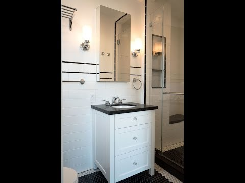 Perfect Retro-Inspired Guest Bathroom - 5 Riverside Drive, NYC