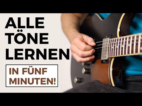 Gitarre Töne lernen - Alle Noten auf der Gitarre lernen in 5 Minuten