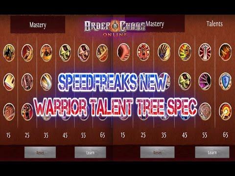 Order And Chaos Online - Warrior New Talent Tree - Speedfreaks Spec