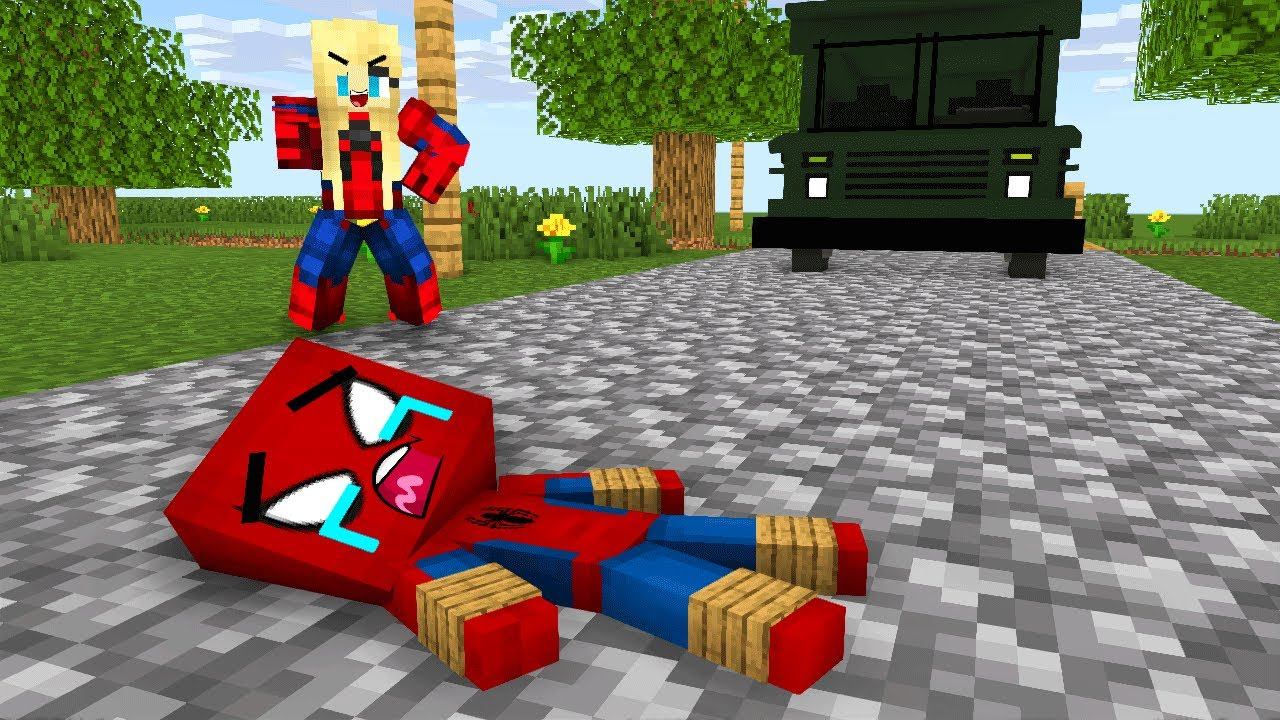 Monster School : Poor Spiderman Baby Bad Mother Sad Story - minecraft animation