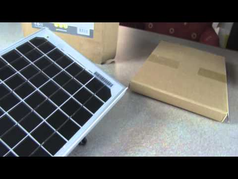 10 watt ECO Solar Panel Battery Charging Kit Unboxing for RV Marine and Off Grid Applications