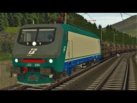 """FS E.412 RSSLO Brennerbahn Unterinntalbahn   """"Holz für Italien"""" Train Simulator 2017"""