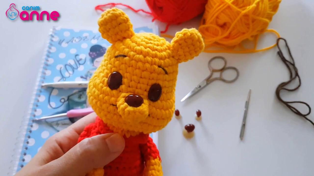 Ursinho Pooh Amigurumi Crochê | Cacareco Tico-Tico-Artesanato ... | 720x1280