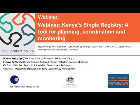 ... Registry A tool for planning, coordination and monitoring Webinar