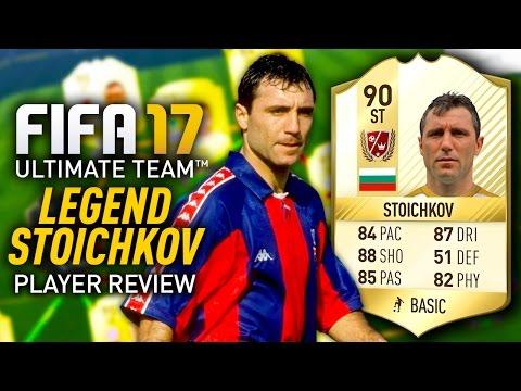FIFA 17 LEGEND STOICHKOV (90) PLAYER REVIEW! FIFA 17 ULTIMATE TEAM!