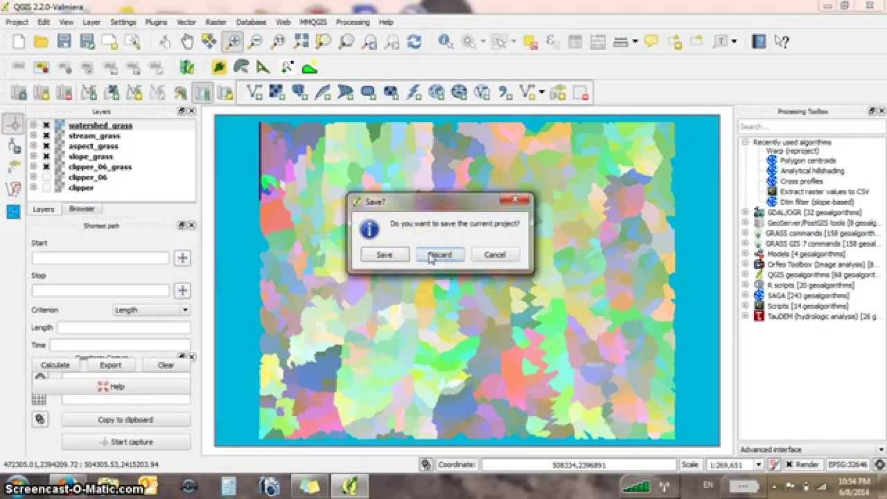 Raster analysis using GRASS in QGIS