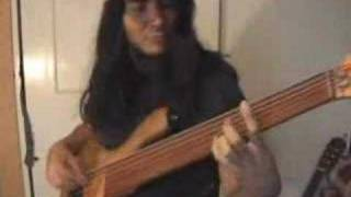 six string fretless bass improvisation