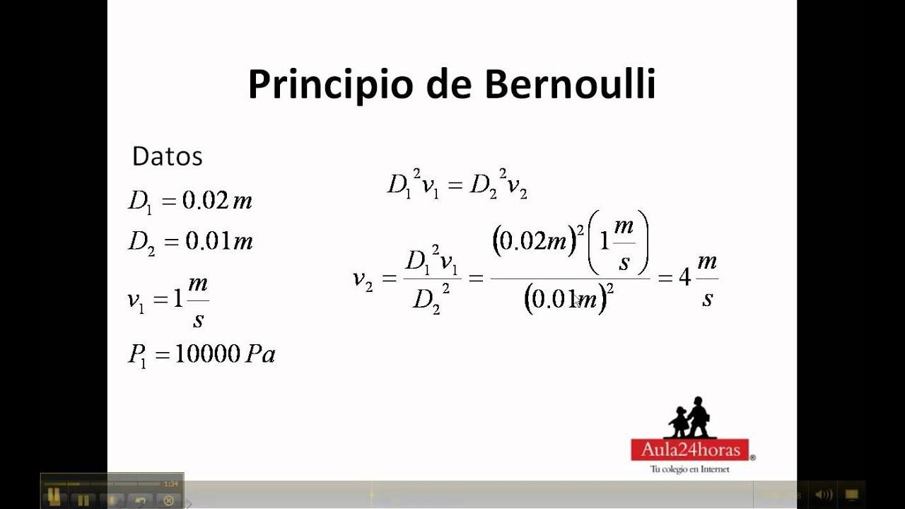 Principio de bernoulli ejercicio 2