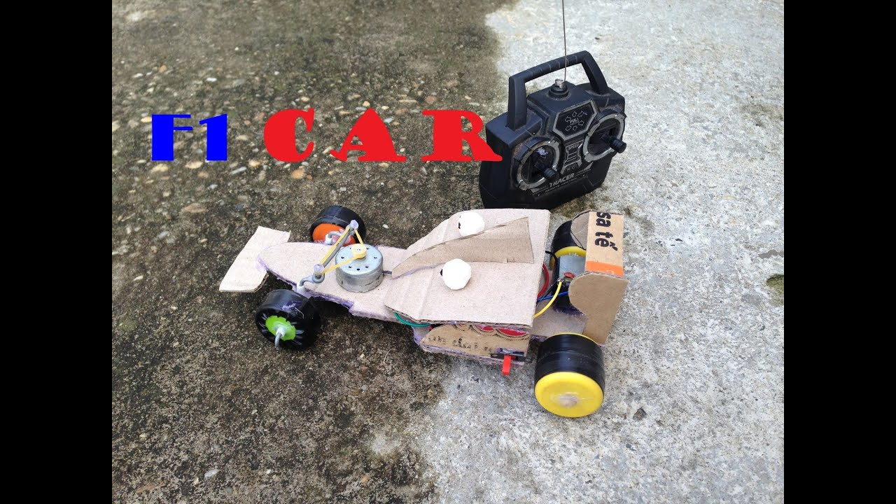 how to make a battery operated f1 car with remote control diy f1 racing youtube. Black Bedroom Furniture Sets. Home Design Ideas