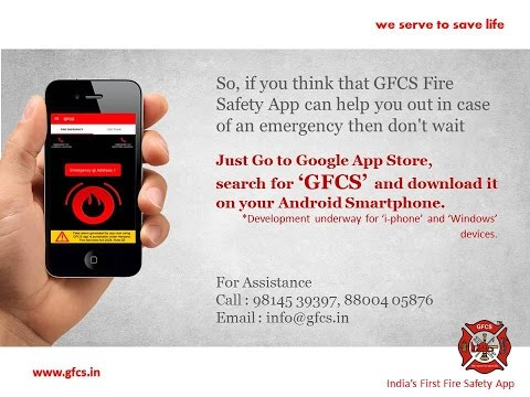GFCS - India's First Fire Safety App