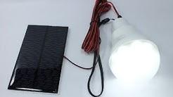 0.8W Solar panel 1.5W LED bulb LED Solar Lamp from Aliexpress EN Subtitles