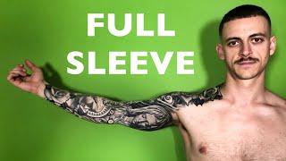 Full tattoo sleeve 7 years in the making