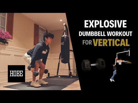 EXPLOSIVE Dumbbell Exercises to JUMP HIGHER! Vertical Jump