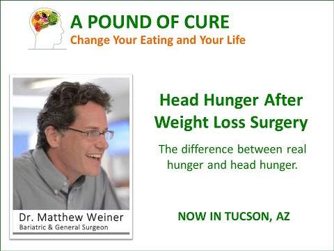 Head Hunger After Weight Loss Surgery Dr. Matthew Weiner explains.