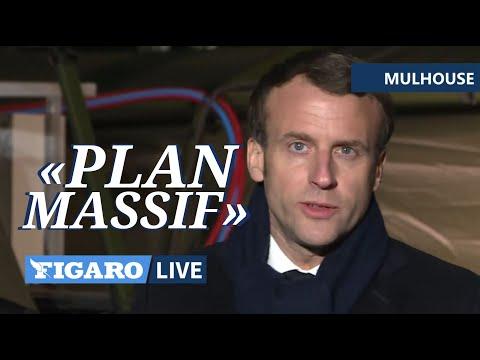 🔴Un «PLAN MASSIF pour l'hôpital» Macron s'engage à Mulhouse | Discours intégral