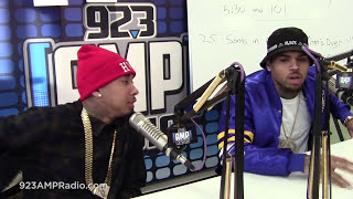 chris brown tyga discuss fan of a fan the album at 92 3 amp radio full interview