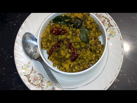 cherupayar thoran/green gram stir fry/Kerala Traditional