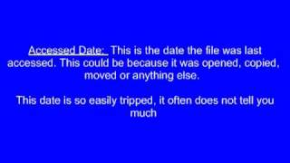 Computer Forensics: Date for a File (in the MFT)