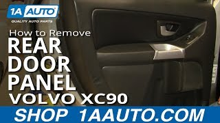 How To Install Replace Rear Door Panel Volvo XC90 1AAuto.com