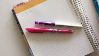 Frixion erasable pens review (my all time favorite planner pens)