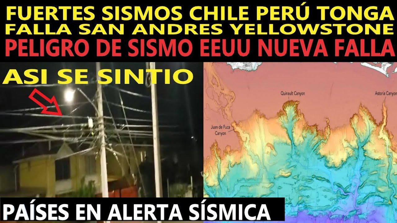 URGENTE: ALTA ACTIVIDAD SISMICA FALLA SAN ANDRES YELLOWSTONE CHILE PERÚ / ALERTA NUEVA FALLA EEUU