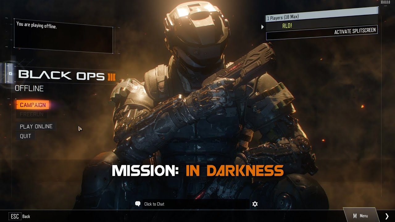 Call Of Duty Black Ops 3 Walkthrough Gameplay In Darkness
