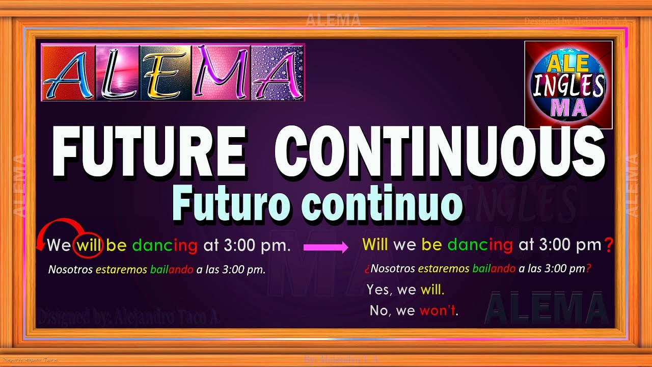 ccbf515d82 Futuro Continuo En Ingles O Futuro Progresivo - Oraciones Con Future  Continuous   Lección # 34