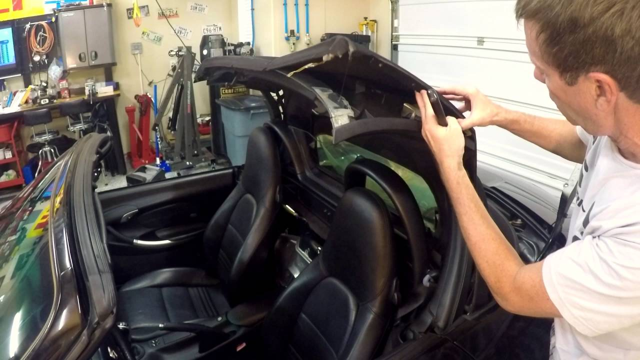 Jet 3 How To Remove And Install A New Convertible Top On Porsche Boxster S Part 1 You