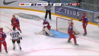 Россия-Германия 7-0.Russia-Germany 7-0. IIHF Ice Hockey U20 World Championship(http://ruslivechannel.blogspot.ru/ • • • • • • • • • Yaroslav Kosov had a hat trick and Nail Yakupov had a goal and an assist as Russia..., 2012-12-29T16:57:45.000Z)