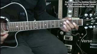 The Rolling Stones PAINT IT BLACK Easy Strum Acoustic Guitar Lesson EricBlackmonMusicHD