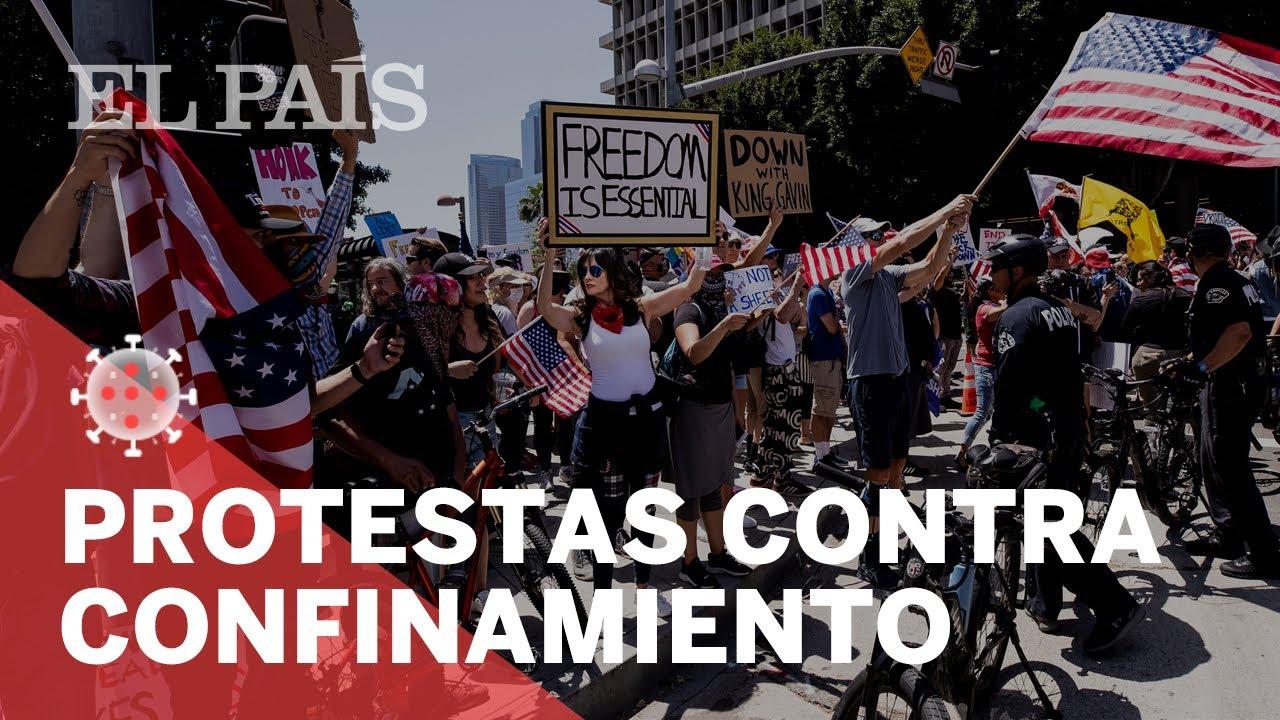 CORONAVIRUS   Protestas en Estados Unidos contra el CONFINAMIENTO ...