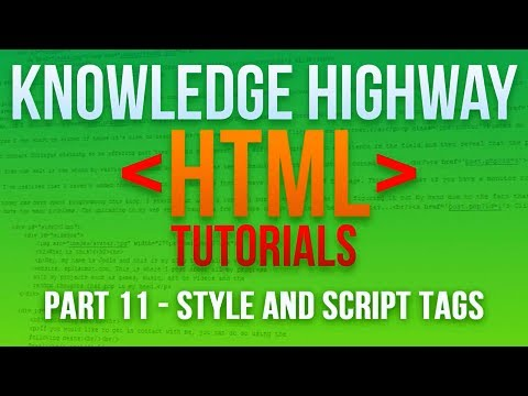How to program in HTML #11 – Style and Script Tags