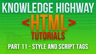 How to program in HTML #11 - Style and Script Tags