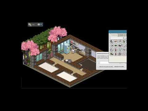 Casa moderna y peque a construcci n fabi habbo youtube for Casa moderna en habbo fantasy