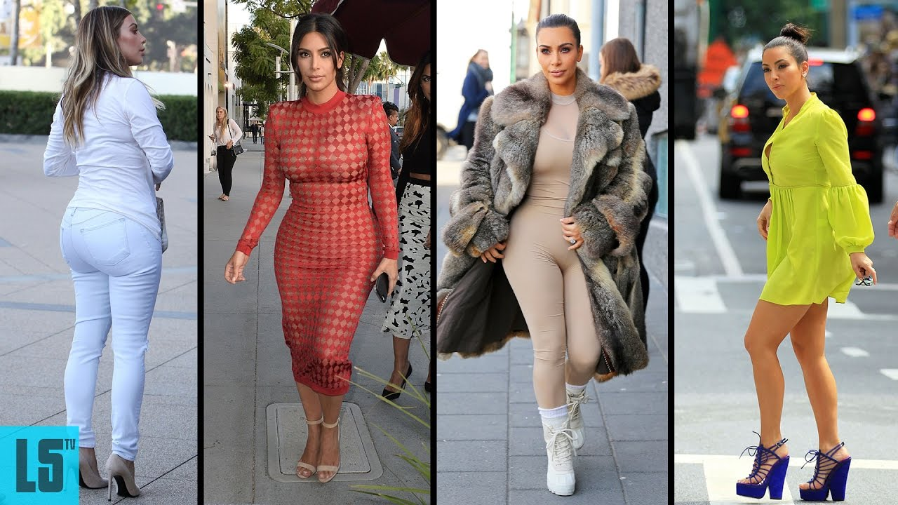 kim kardashian's hairstyle, casual style, street style & outfits - 2017