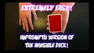 Impromptu INVISIBLE DECK?! How To Mentally Force Anybody To Name A Certain Card!