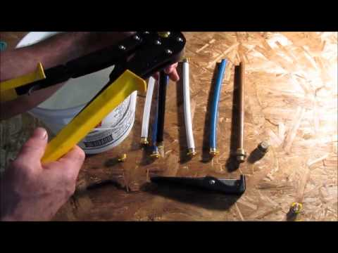 Different types of pex pipe freezer test a few winter for Types of pipes used in plumbing