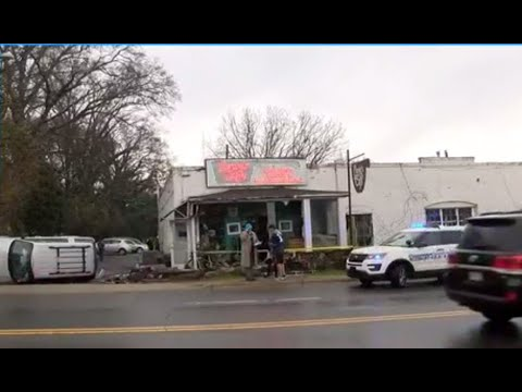 VIDEO: Scene after SUV crashes into NC cafe