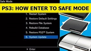 PS3: HOW TO ENTER SAFE MODE. КАК ЗАЙТИ В БЕЗОПАСНЫЙ РЕЖИМ НА SONY PLAYSTATION 3 FAT/SLIM/SUPER SLIM
