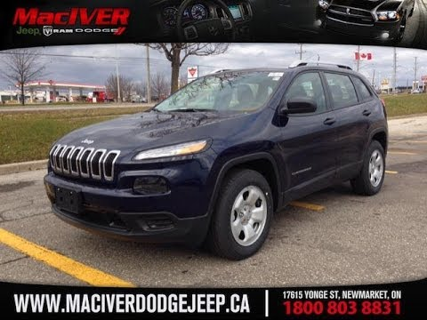 2014 jeep cherokee sport 4x4 maciver dodge jeep newmarket ontario. Cars Review. Best American Auto & Cars Review