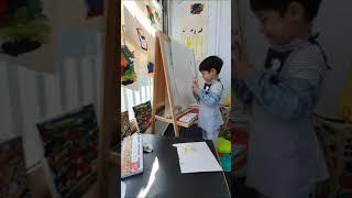5살 아들집에서 미술놀이.