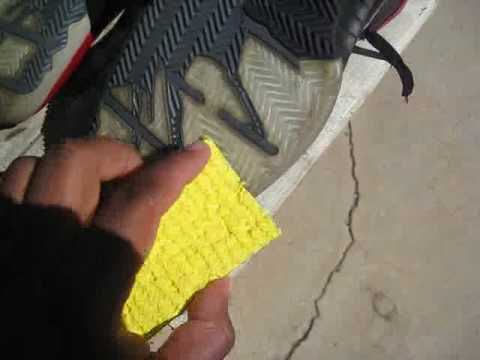 Keeping your kicks fresh part 2.1:  Sea Glow in action.